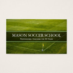 Soccer Pitch - Football School Coach Business Card at Zazzle