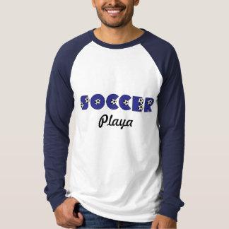 Soccer Playa in Blue T-Shirt