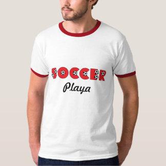 Soccer Playa in Red T-Shirt