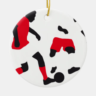 Soccer player 03-2013 C 3c.png Double-Sided Ceramic Round Christmas Ornament