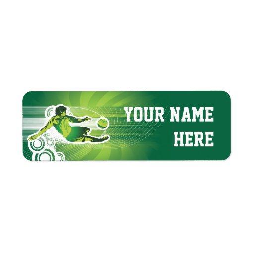 Soccer Player 1 Custom Return Address Labels