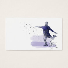 Soccer Player 2 - Business Cards at Zazzle