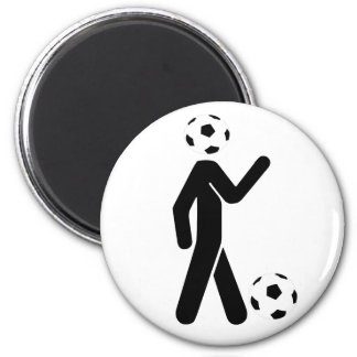 soccer player 2 inch round magnet