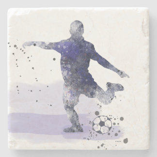 SOCCER PLAYER 2 - Stone Coaster