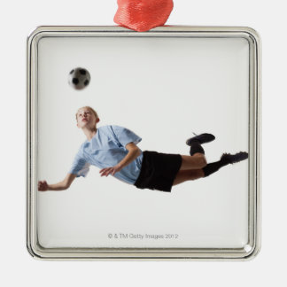 Soccer player 3 christmas ornament