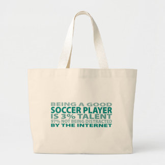 Soccer Player 3% Talent Tote Bags