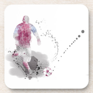 SOCCER PLAYER 4 BEVERAGE COASTER