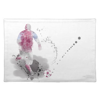 SOCCER PLAYER 4 CLOTH PLACEMAT