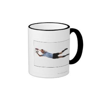 Soccer player 4 ringer mug