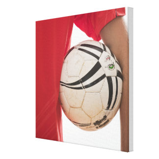 Soccer player 5 stretched canvas print