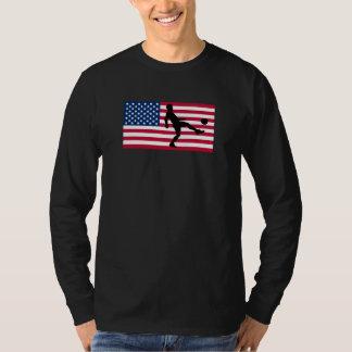 Soccer Player American Flag T-Shirt