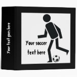 Soccer player and ball custom gift 3 ring binders
