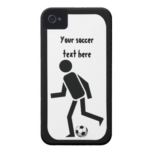 Soccer player and ball custom gift iPhone 4 cover