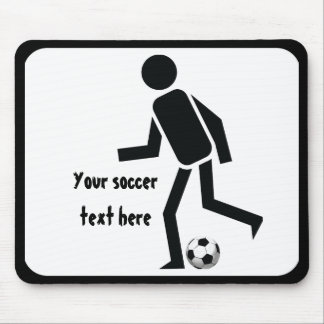 Soccer player and ball custom gift mouse pad