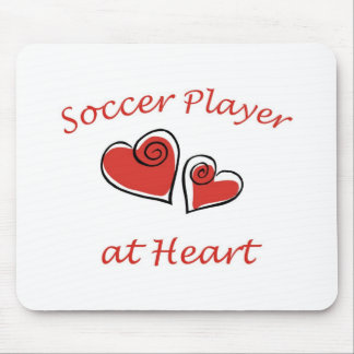 Soccer Player at Heart Mouse Pad