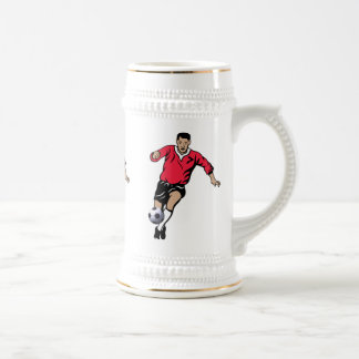 Soccer Player Beer Stein