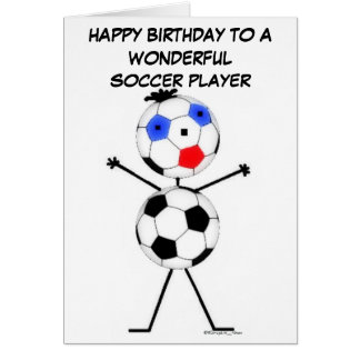 Soccer Player Birthday Greeting Card