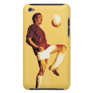 soccer player bouncing ball off knee barely there iPod case
