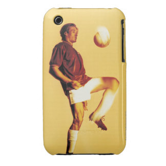 soccer player bouncing ball off knee Case-Mate iPhone 3 case