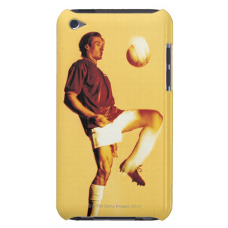 soccer player bouncing ball off knee iPod touch case