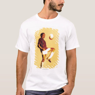 soccer player bouncing ball off knee T-Shirt