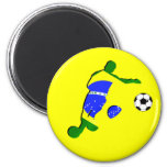 Soccer player brazil flag 2010 gifts fridge magnets