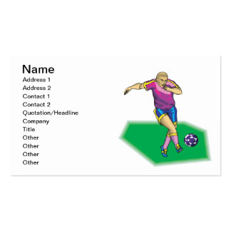 Soccer Player Double-Sided Standard Business Cards (Pack Of 100)