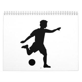 Soccer player wall calendars