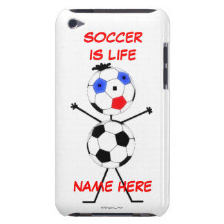 Soccer Player Cartoon Case-Mate iPod Touch Case
