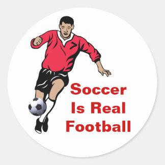 Soccer Player Classic Round Sticker