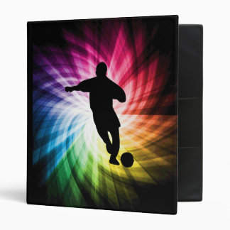 Soccer Player; colorful 3 Ring Binder
