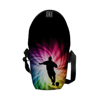 Soccer Player; colorful Messenger Bags
