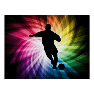 Soccer Player; colorful Posters
