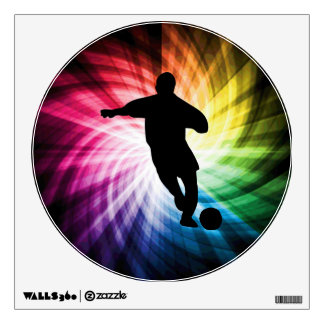 Soccer Player; colorful Room Decal