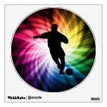 Soccer Player; colorful Room Sticker