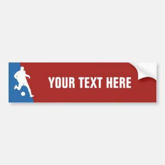 Soccer Player custom bumpersticker Bumper Sticker