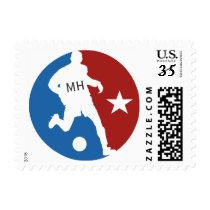 Soccer Player custom monogram stamps