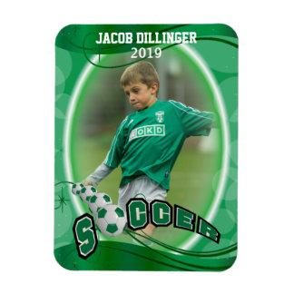 Soccer Player - Decorative Photo Print Template Magnet