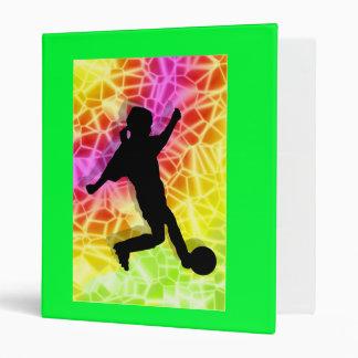 Soccer Player & Fluorescent Mosaic Binder