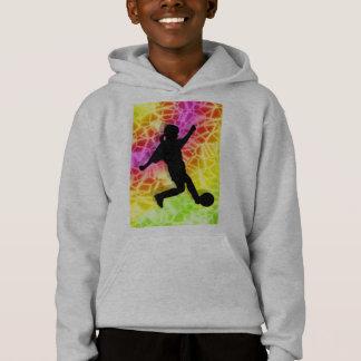 Soccer Player & Fluorescent Mosaic Hoodie