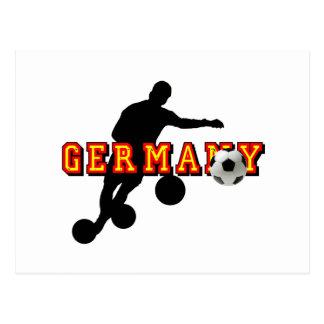 Soccer Player Germany football gear Postcard