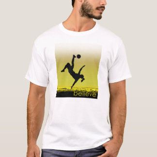 Soccer Player Girl At The Beach T-Shirt