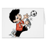 Soccer Player Greeting Cards