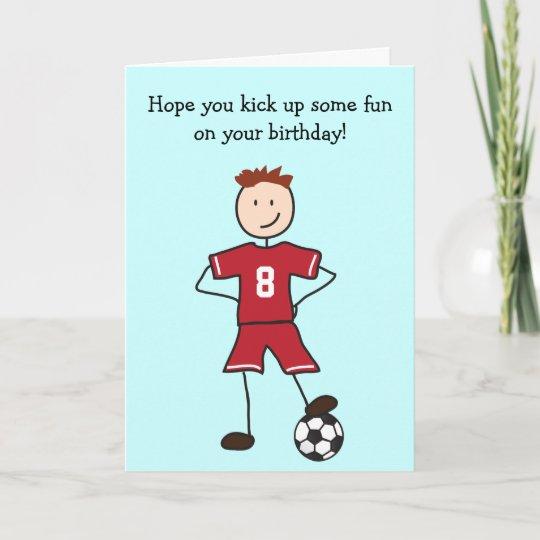 Soccer Player Happy Birthday Card Zazzle