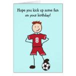 Soccer Player Happy Birthday Card