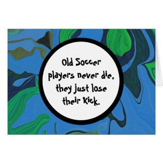 soccer player humor card