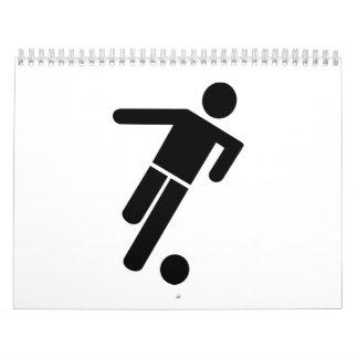 Soccer player icon calendar