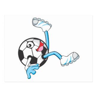 Soccer Player in Bicycle Kick Pose Postcard