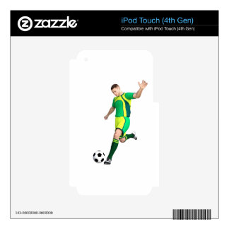 Soccer Player in Green and Yellow Decal For iPod Touch 4G