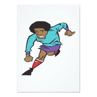 Soccer Player 5x7 Paper Invitation Card
